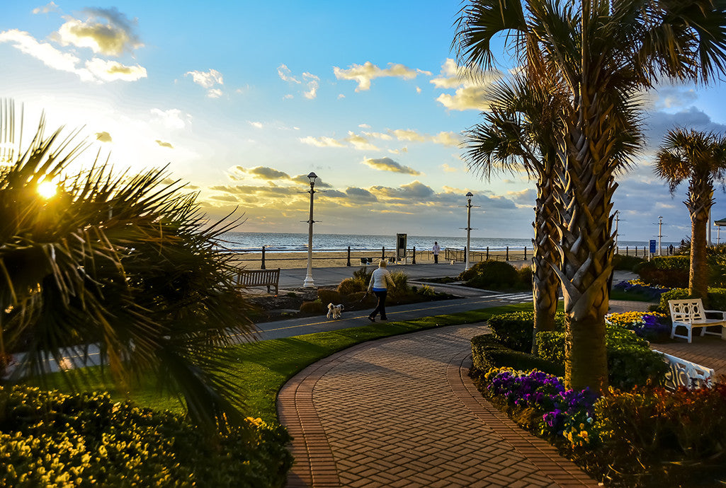 A sunny morning along Virginia Beach, Virginia