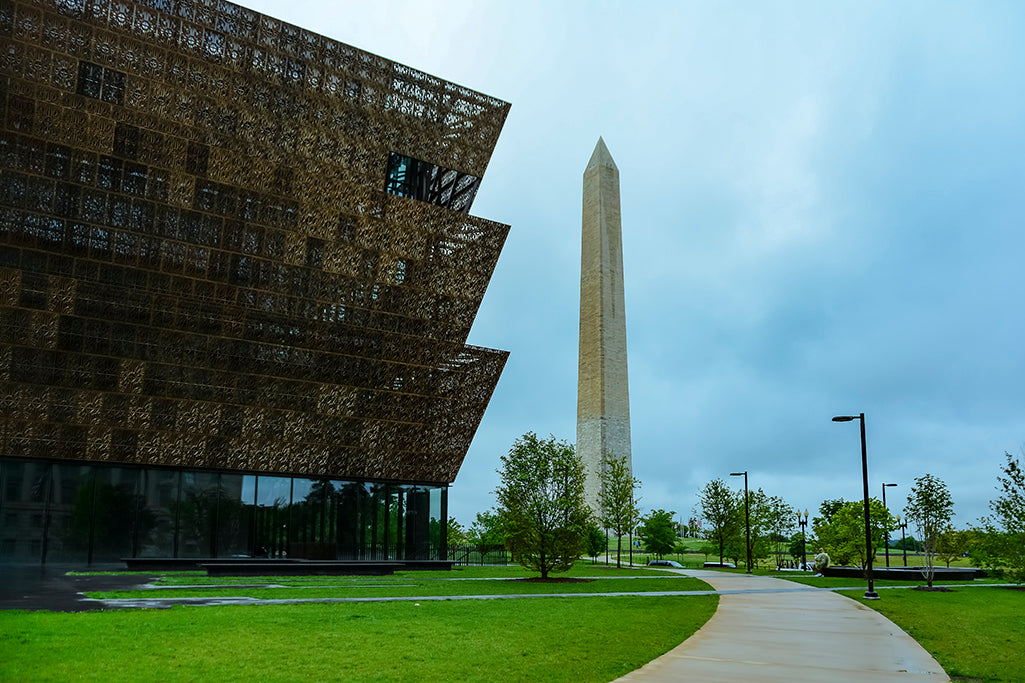 The National Museum of African American History and Culture shares a photographic scene in the fine art image.