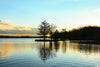 The sun sets on Lake Pinchot in Pennsylvania