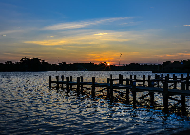 Sunset on Whitehall Creek in Annapolis, Maryland.
