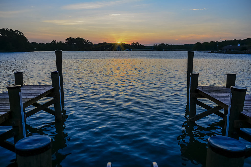 A sunset is captured on the Chesapeake Bay near Sandy Point.