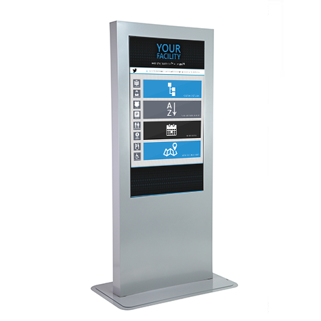 Premium Vertical Touch Screen Kiosk offered at ShopInteractive.ca