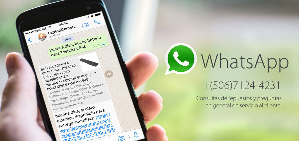 Contactanos por WhatsApp Laptop Center