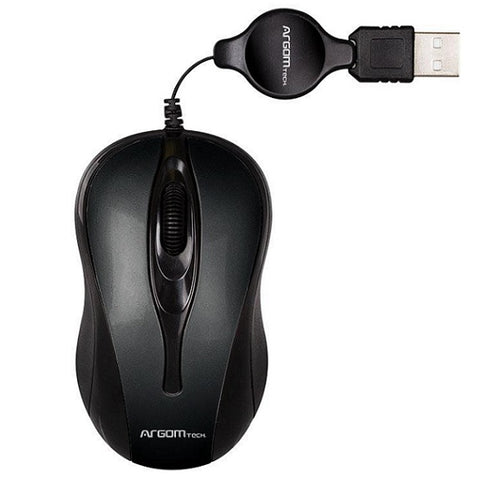 MOUSE ÓPTICO USB RETRÁCTIL ARG-MS-0008BK