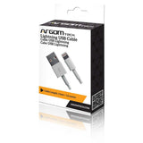 CABLE USB IPHONE TIPO PLANO ARGOM