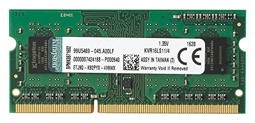 MEMORIA RAM 4GB DDR3L 1600MHZ/PC12800 P/LAPTOP KINGSTON KVR16LS11/4
