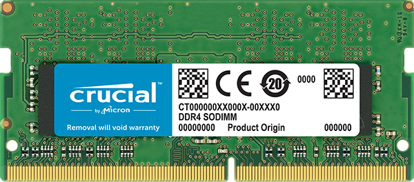 MEMORIA RAM 4GB DDR4 2400MHz/PC4-19200 CRUCIAL 512Mx64 CL17# CT4G4SFS824A P/LAPTOP