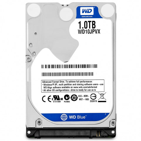 "DISCO DURO 1TB 2.5"" 9.5MM 5400RPM WD BLUE PARA LAPTOP"