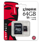 MEMORIA MICROSD HC CLASS10 CON ADAPTADORES KINGSTON