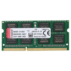 MEMORIA RAM 8GB DDR3L SODIMM KINGSTON 1600MHz CL11 PC3L-12800 KVR16LS11/8