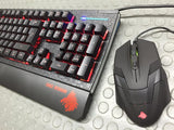 KIT GAMER EAGLE WARRIOR G75 WILD BEAST TECLADO MEMBRANA Y MOUSE