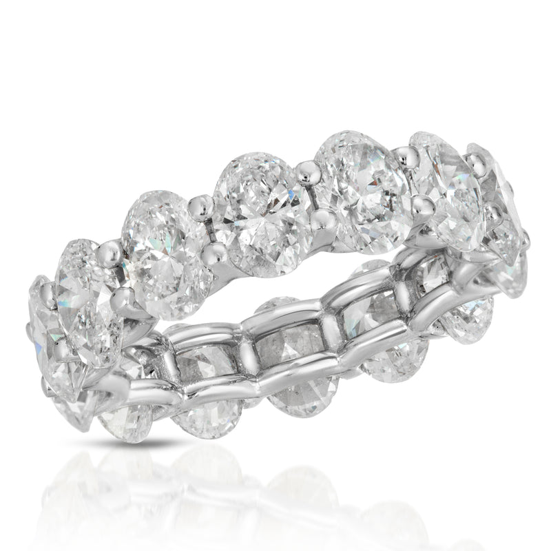 Oval U Shape Eternity Band