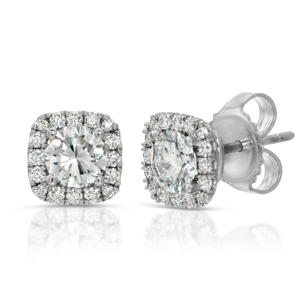 Cushion Halo Studs