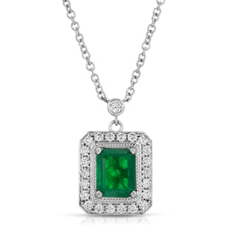 Deep Green Emerald Pendant