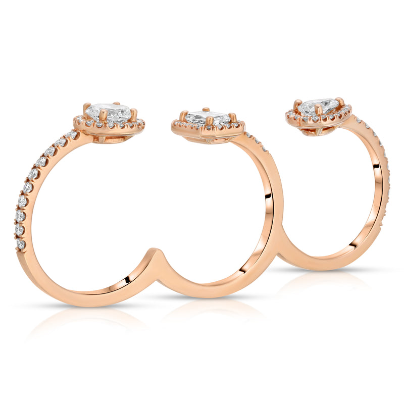 Three Finger Knuckle Ring