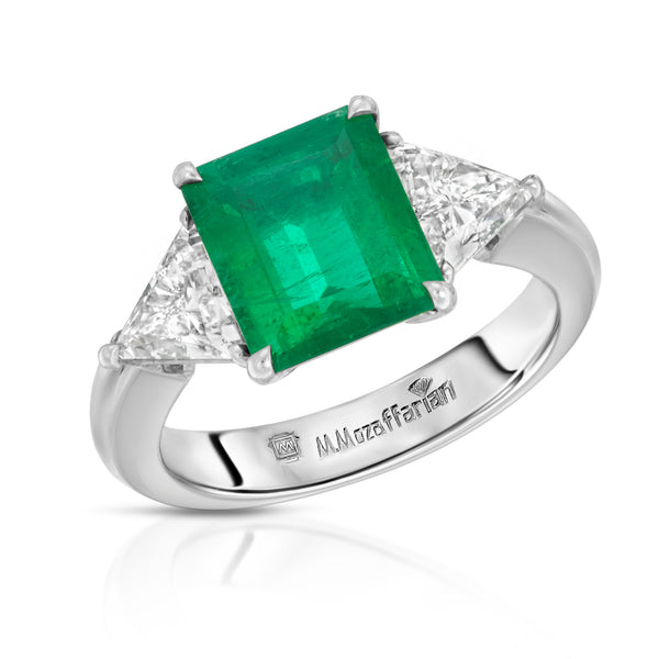 Emerald and Kite Ring