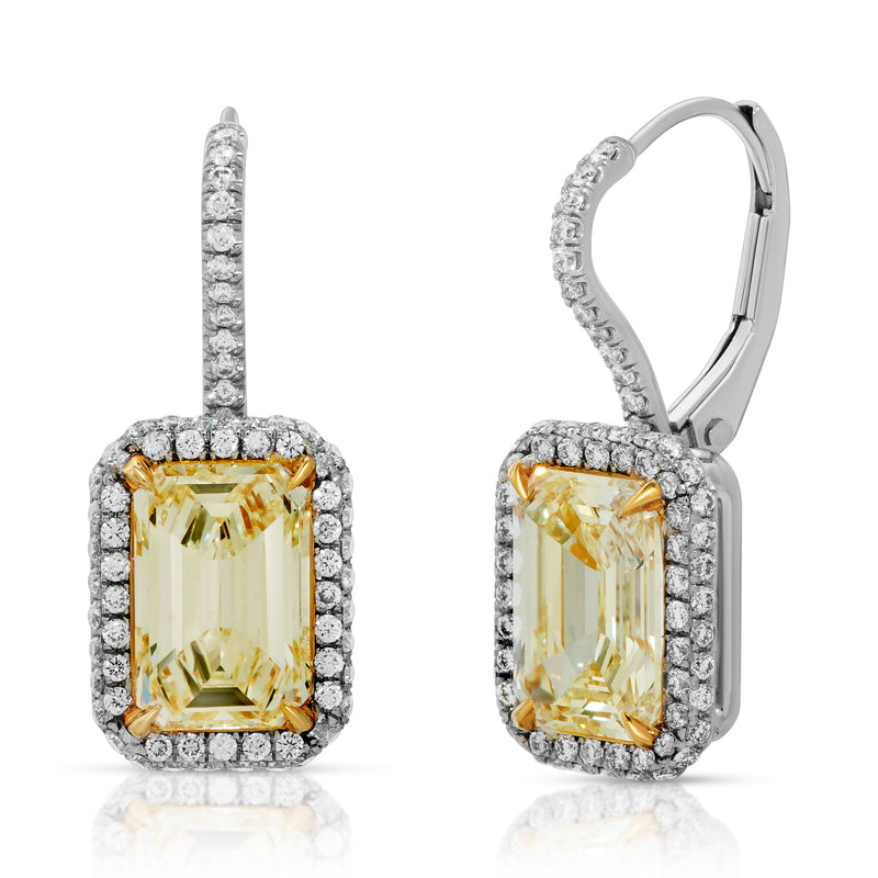 Fancy Yellow Diamond Earring