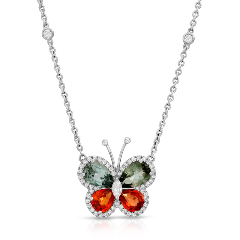 Two Colored Butterfly Necklace