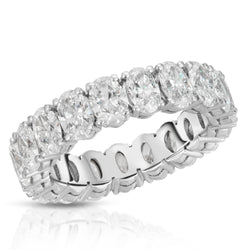 Oval Share Prong Eternity Band