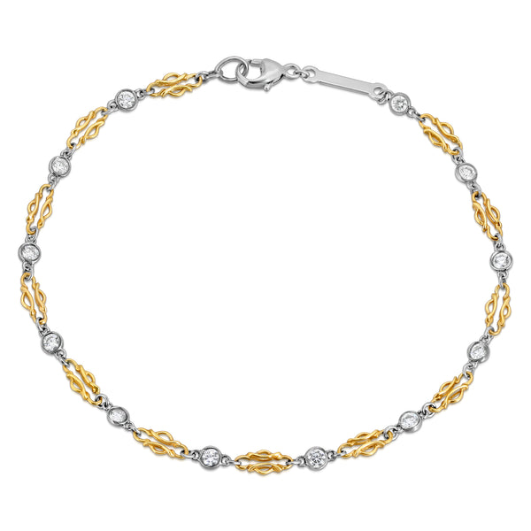 Chain And Diamonds Bracelet