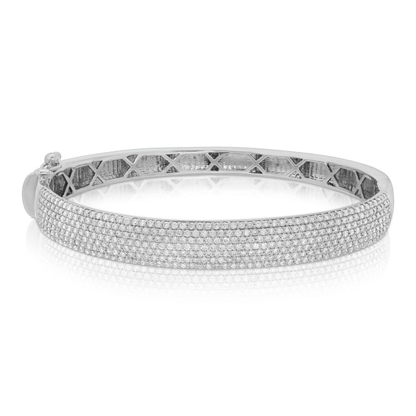 7 Row Diamond Bangle