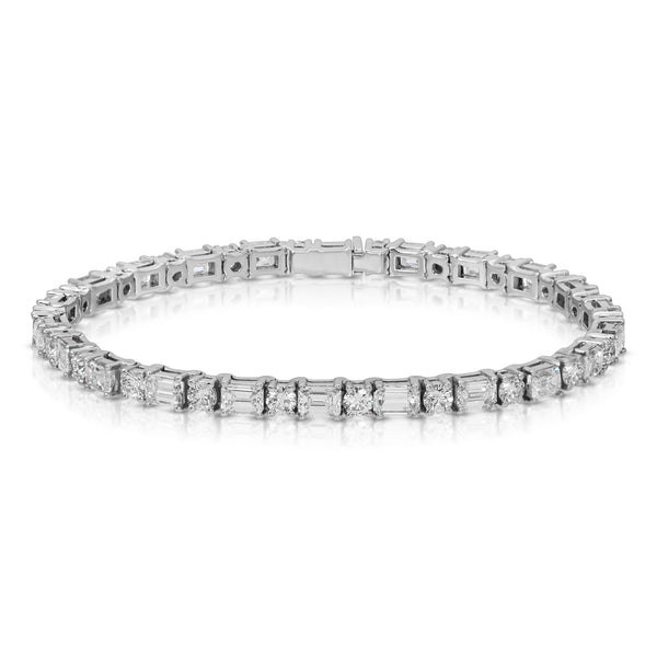 Two Shape Tennis Bracelet