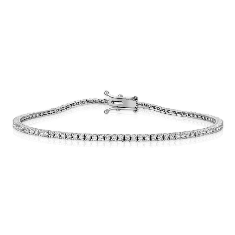Thin Diamond Tennis Bracelet