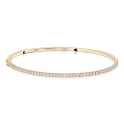 All Around Diamond Thin Bangle
