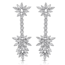 Marquise Flower Earring