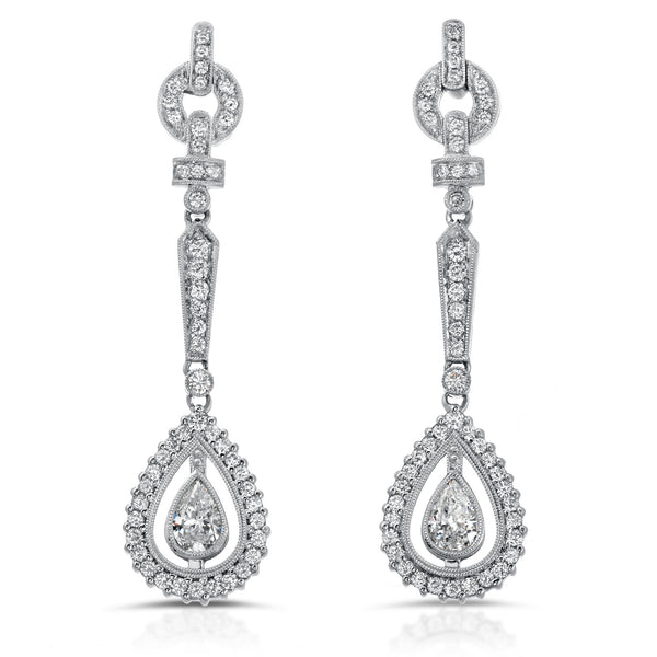 Pear Chandelier Earrings