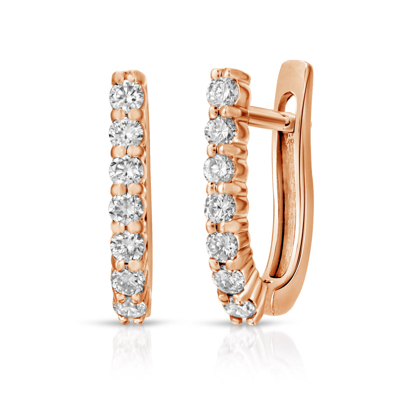 Diamond Huggy Hoops