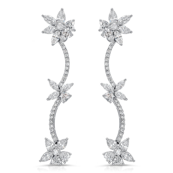 Long Marquise Earrings
