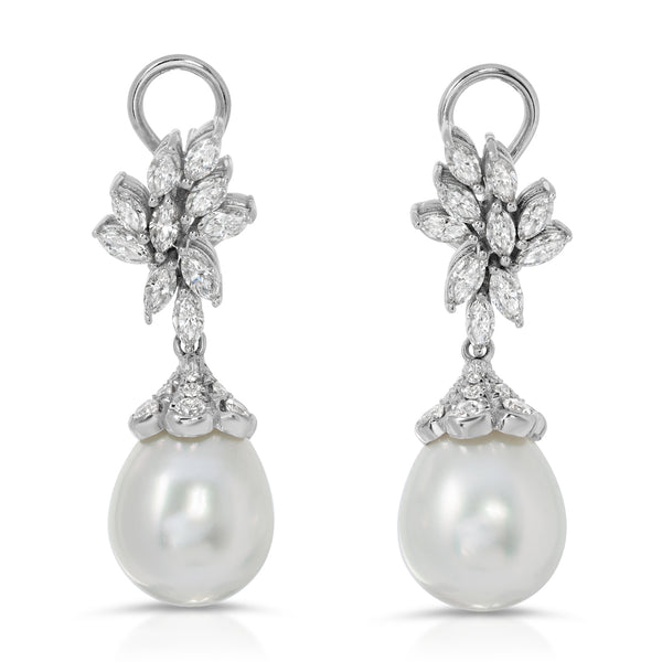Short Drop Pearl Earring