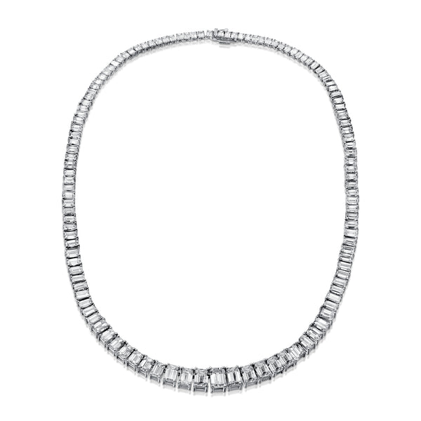 All Around Emerald Cut Necklace