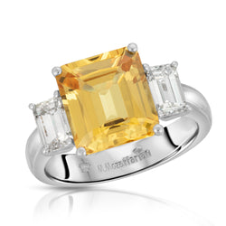 Solitaire Yellow Sapphire Ring
