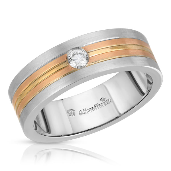 Two Tone Diamond Men's Ring