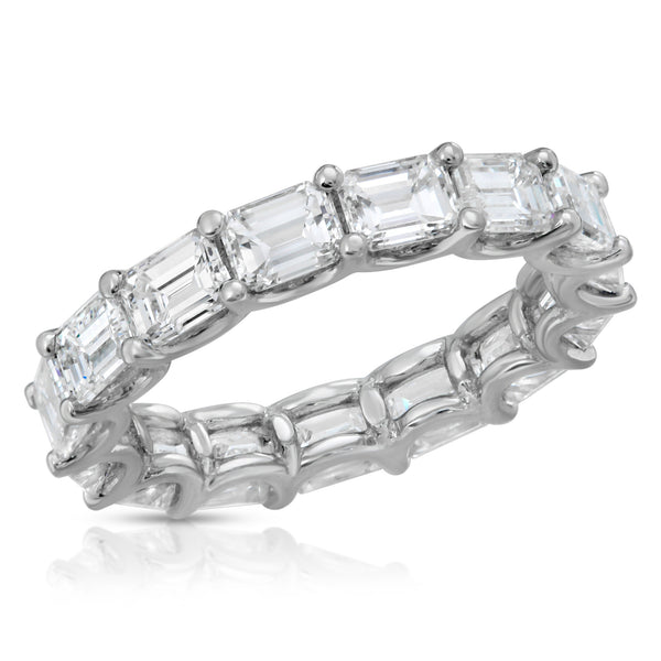 Horizontal Emerald Cut Eternity Band