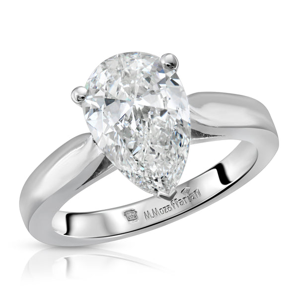 Solitaire Pear Shaped Engagement Ring