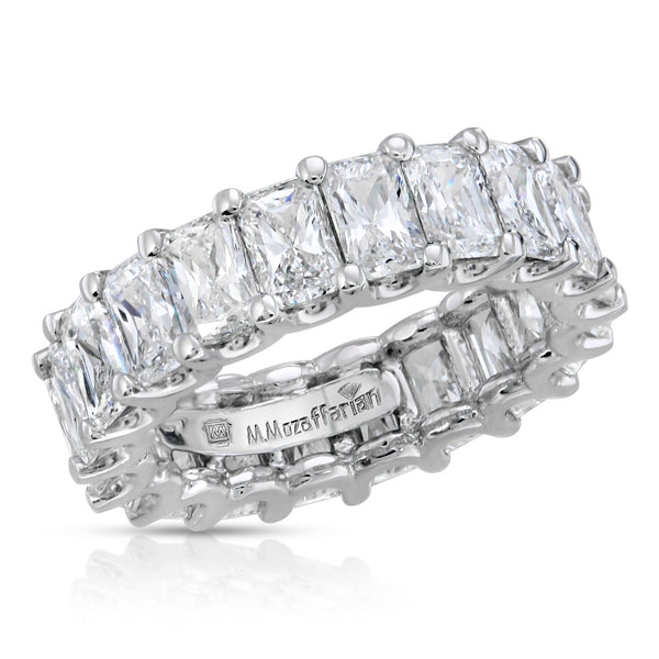 Emerald Share Prong Eternity Band