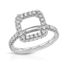 Women's Halo Pave Setting