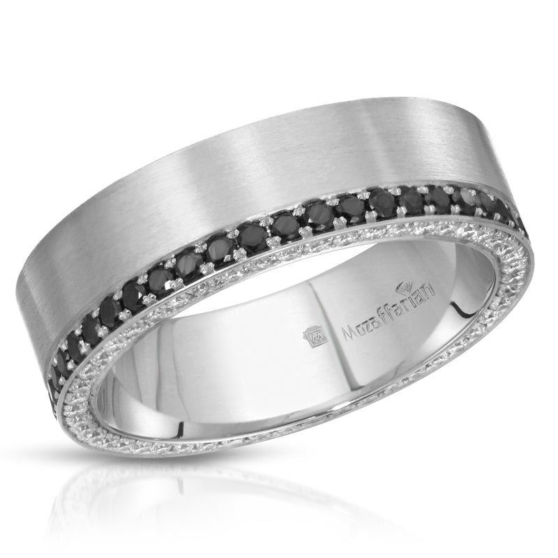 Men's Black and White Band