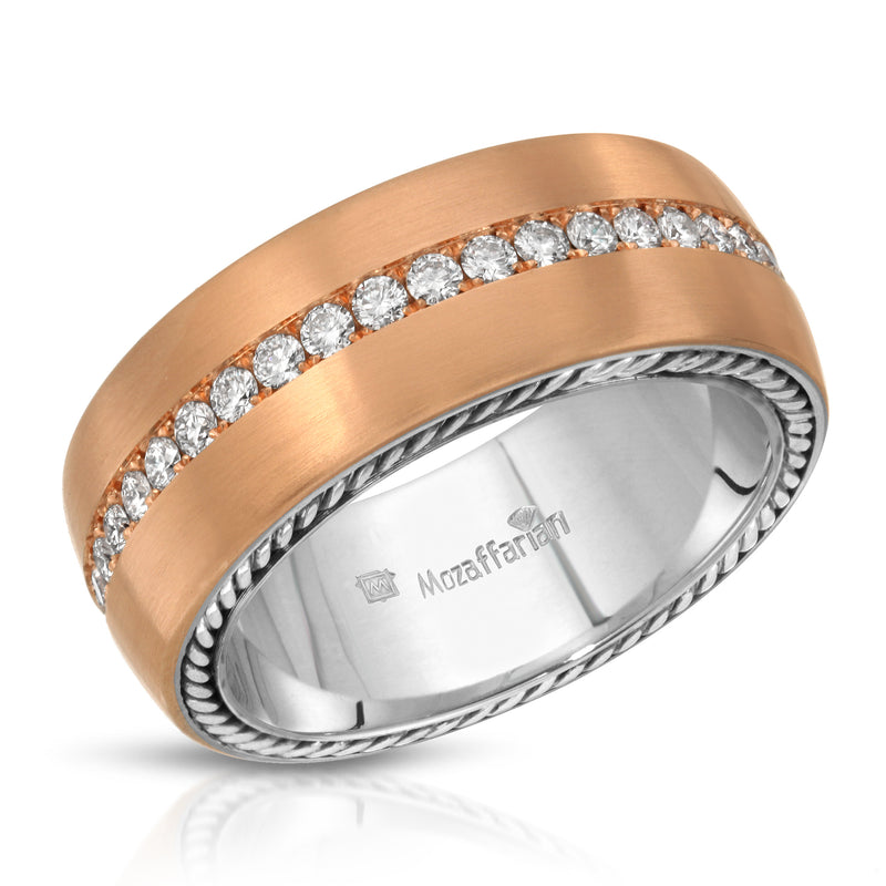Men's Rose Gold Middle Row Band