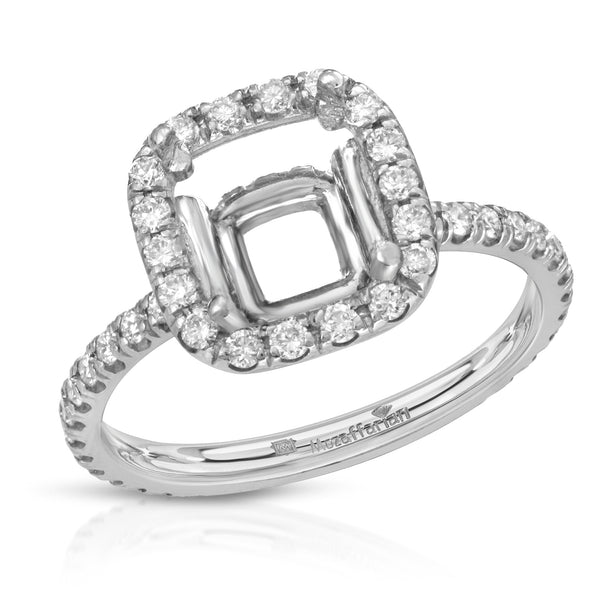 Women's Cushion Halo Setting