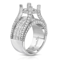 Women's Wide Band Diamond Setting