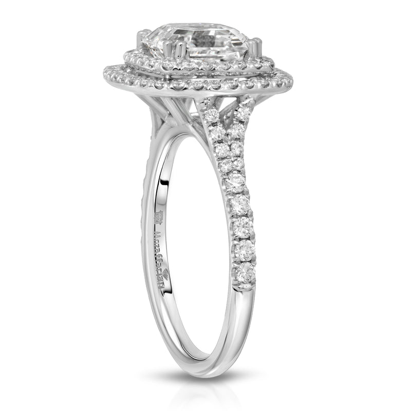 Women's Double Halo Wedding Ring