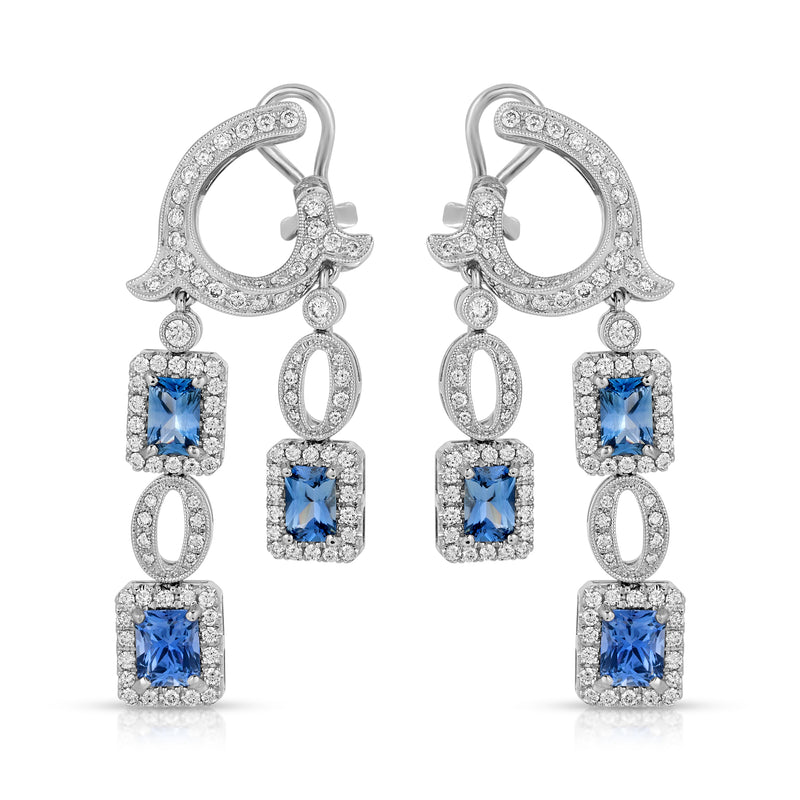 Q's and Sapphire Earring