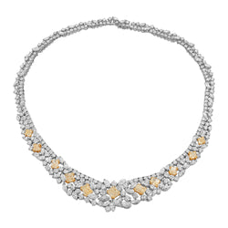 Queen White and Yellow Diamond Necklace