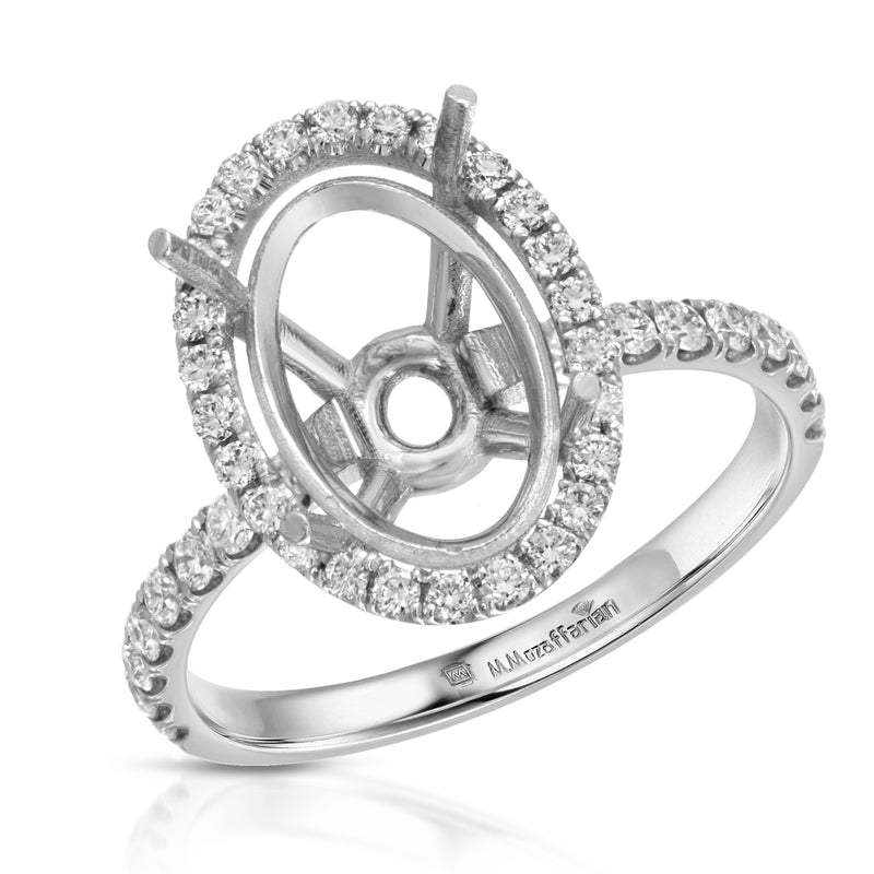 Single Halo Classic Oval Setting