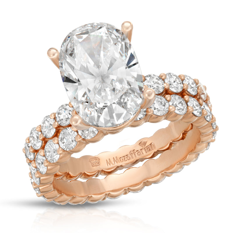 Rose Gold Share Prong set