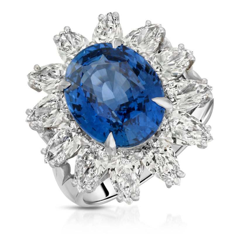 Exotic Flower Sapphire Ring